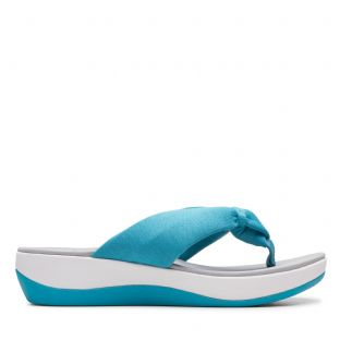 Clarks Womens Arla Glison Aqua Synthetic Sandals